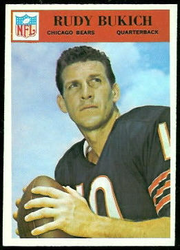 Rudy Bukich 1966 Philadelphia football card