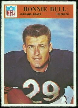 Ron Bull 1966 Philadelphia football card