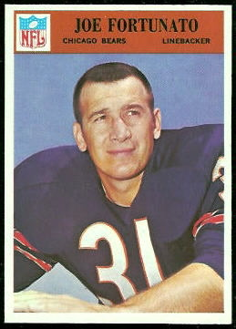 Joe Fortunato 1966 Philadelphia football card