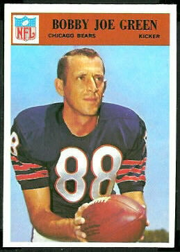 Bobby Joe Green 1966 Philadelphia football card