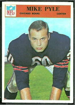 Mike Pyle 1966 Philadelphia football card
