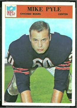 Mike Pyle 1966 Philadelphia football card