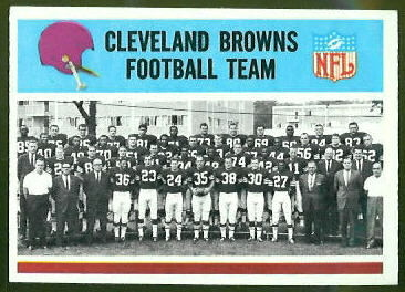 Cleveland Browns Team 1966 Philadelphia football card