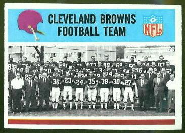 Cleveland Browns Team 1966 Philadelphia football card