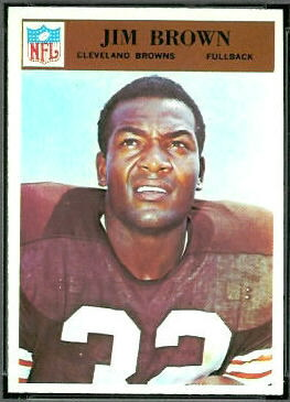 Jim Brown 1966 Philadelphia football card