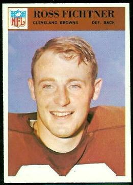 Ross Fichtner 1966 Philadelphia football card