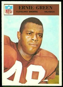 Ernie Green 1966 Philadelphia football card