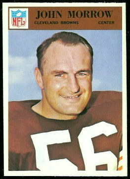 John Morrow 1966 Philadelphia football card