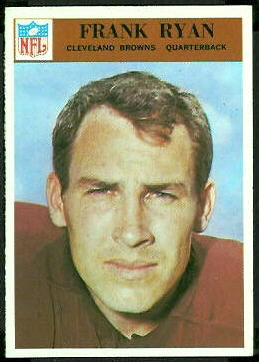 Frank Ryan 1966 Philadelphia football card