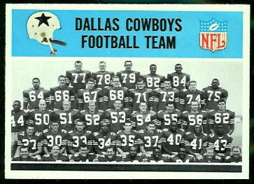 Dallas Cowboys Team 1966 Philadelphia football card
