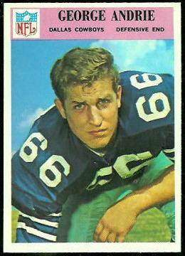 George Andrie 1966 Philadelphia football card