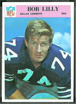 Bob Lilly 1966 Philadelphia football card
