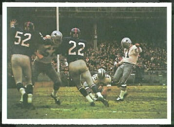 Cowboys Play 1966 Philadelphia football card
