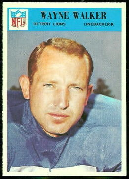 Wayne Walker 1966 Philadelphia football card