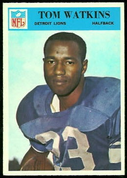 Tom Watkins 1966 Philadelphia football card