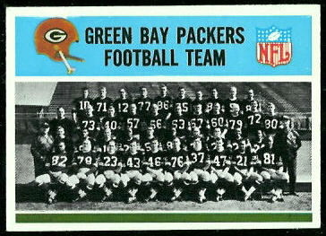 Green Bay Packers Team 1966 Philadelphia football card