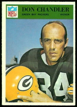 Don Chandler 1966 Philadelphia football card