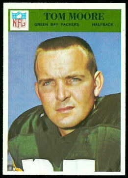 Tom Moore 1966 Philadelphia football card