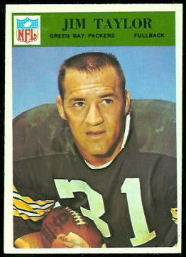 Jim Taylor 1966 Philadelphia football card