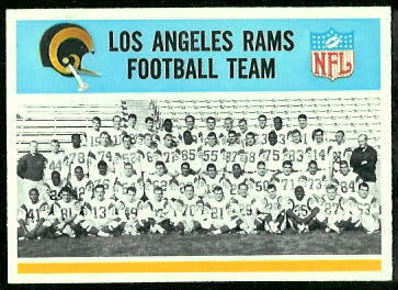 Los Angeles Rams Team 1966 Philadelphia football card