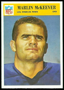 Marlin McKeever 1966 Philadelphia football card