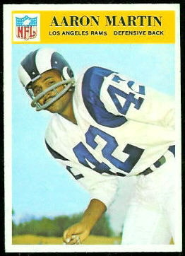 Aaron Martin 1966 Philadelphia football card