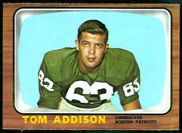 Tommy Addison 1966 Topps football card