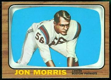 Jon Morris 1966 Topps football card