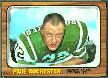 Paul Rochester 1966 Topps football card