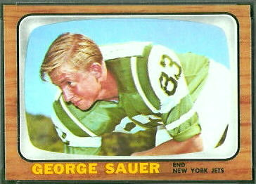 George Sauer Jr. 1966 Topps football card