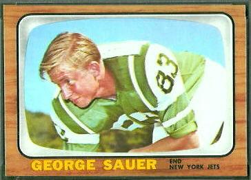 George Sauer Jr. 1966 Topps football card
