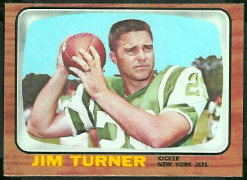 Jim Turner 1966 Topps football card
