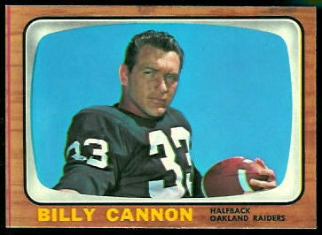 Billy Cannon 1966 Topps football card