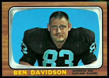 Ben Davidson 1966 Topps football card
