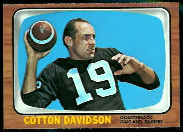 Cotton Davidson 1966 Topps football card