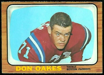 Don Oakes 1966 Topps football card