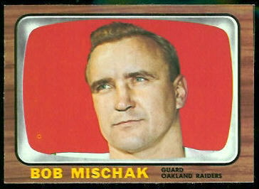 Bob Mischak 1966 Topps football card