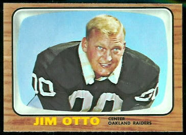Jim Otto 1966 Topps football card
