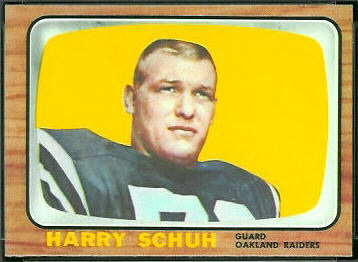 Harry Schuh 1966 Topps football card