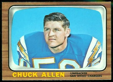 Chuck Allen 1966 Topps football card