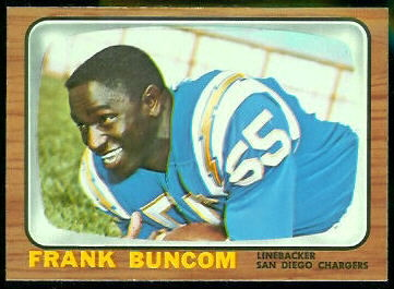 Frank Buncom 1966 Topps football card