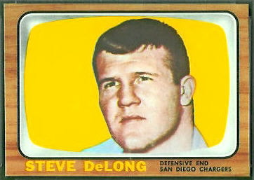 Steve DeLong 1966 Topps football card