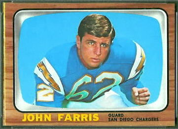 John Farris 1966 Topps football card
