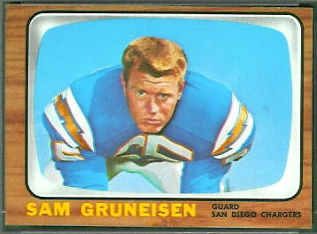 Sam Gruneisen 1966 Topps football card
