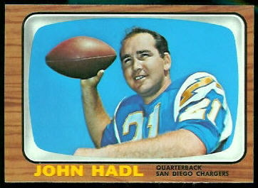 John Hadl 1966 Topps football card