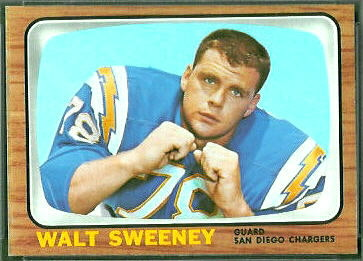 Walt Sweeney 1966 Topps football card