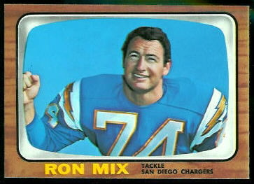 Ron Mix 1966 Topps football card