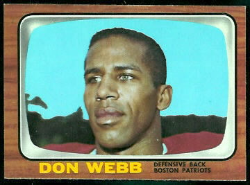 Don Webb 1966 Topps football card