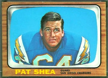 Pat Shea 1966 Topps football card