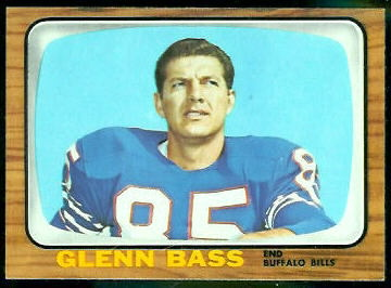 Glenn Bass 1966 Topps football card